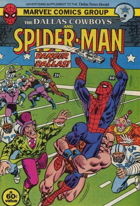 marvel-mejores-historias-marvel-futbol-americano-nfl-spiderman-comic-dallas-cowboys-football