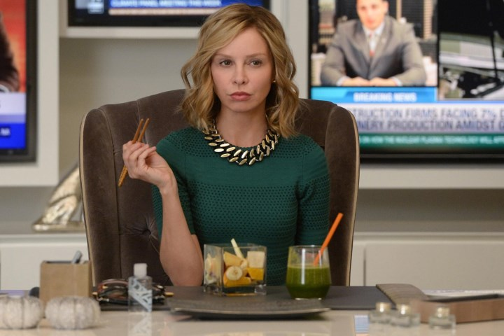 """""""Livewire"""" -- When an accident transforms a volatile CatCo employee into the villainous Livewire, she targets Cat (Calista Flockhart, pictured) and Supergirl, on SUPERGIRL, Monday, Nov. 16 (8:00-9:00 PM, ET/PT) on the CBS Television Network. Photo: Darren Michaels/Warner Bros. Entertainment Inc. © 2015 WBEI. All rights reserved."""